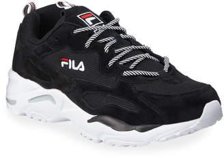 Fila Men's Ray Tracker Mesh & Suede Trainer Sneaker