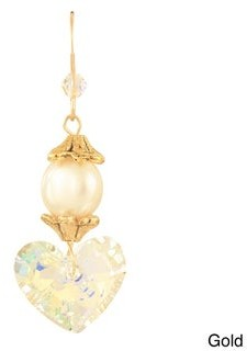 Ardent Designs Una Pearl and Crystal Earrings