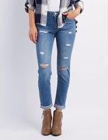 Charlotte Russe Destroyed Boyfriend Jeans
