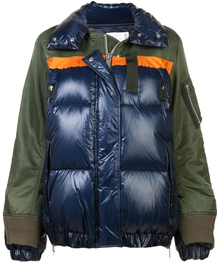 Sacai padded colour block jacket
