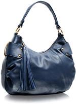 ASOS Premium Ring Tassle Leather Scoop Bag