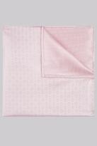 Moss Bros Pink Geo Silk Pocket Square