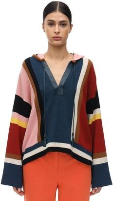 Salvatore Ferragamo Hooded Cashmere & Cotton Knit Sweater