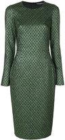 Dolce & Gabbana metallic jacquard dress - women - Silk/Polyester/Spandex/Elastane - 44