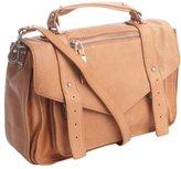 Sondra Roberts tobacco grained leather convertible satchel