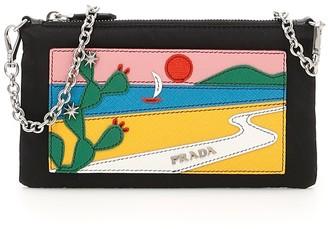 Prada Logo Patch Clutch Bag