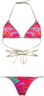 Reina Olga Hawn coral print bikini