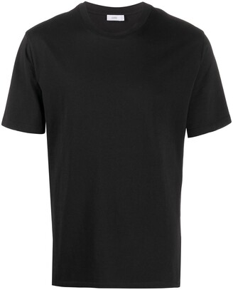 Closed round neck short-sleeved T-shirt