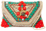 Antik Batik Cuzco Embroidered Cotton Convertible Clutch