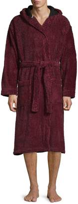 Black Brown 1826 Hooded Plush Robe