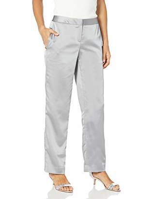 Tahari ASL Women's Petite Wide Leg Pant with Back Elastic