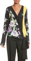 Diane von Furstenberg Women's Floral Silk Wrap Blouse