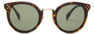 Celine Round Tortoiseshell-acetate And Metal Sunglasses - Tortoiseshell