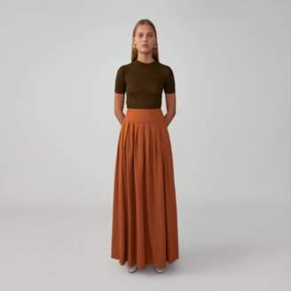 Fame & Partners Yoked Maxi Skirt