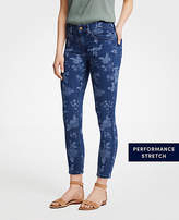 Ann Taylor Modern Island Floral All Day Skinny Crop Jeans