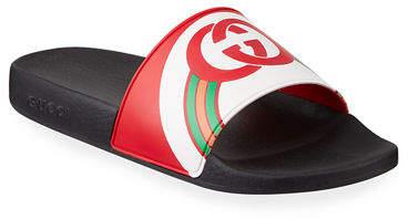 G Rainbow Slide Men's Sandals Interlocking Rubber dCohxQBrts