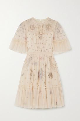 Needle & Thread + Jasmine Hemsley Ether Embellished Tulle Mini Dress - Ivory