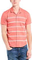 Scotch & Soda Linen-Blend Regular Fit Woven Shirt