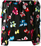 Tanya Taylor embroidered off-shoulder blouse - women - Silk/Polyester/Viscose - 2