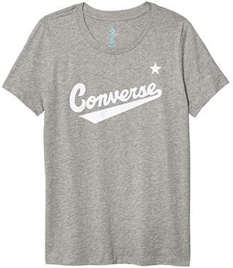 Converse Nova Center Front Logo Tee (Vintage Grey Heather) Women's Clothing
