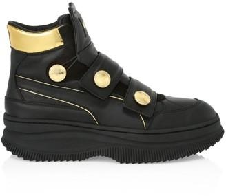 Balmain Puma X Puma x Deva Straps Leather Sneakers