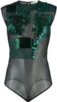 Amen sequin-embellished mesh bodysuit