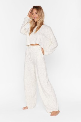 Nasty Gal Womens Cropped Top And High-Waisted Trousers Lounge Set - White - 6