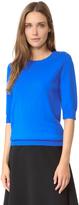 Nina Ricci Merino Wool Short Sleeve Sweater