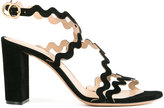Chloé wave strap sandals - women - Kid Leather - 38