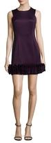 Donna Ricco Ruffle Hem Dress