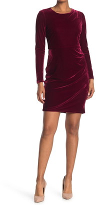 Donna Morgan Velvet Long Sleeve Mini Dress