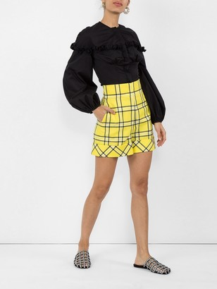 Sara Battaglia Checked Tailored Shorts