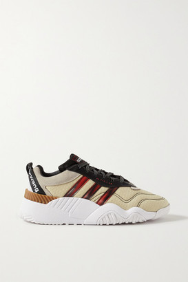 Adidas Originals By Alexander Wang Turnout Suede And Rubber-trimmed Ripstop Sneakers - Ecru