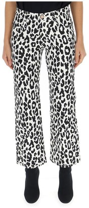 See by Chloe Patterned Cropped Jeans