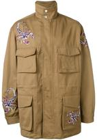 Diesel Black Gold scorpion embroidered coat