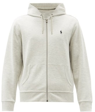 Polo Ralph Lauren Logo Embroidered Hooded Sweatshirt - Mens - Grey