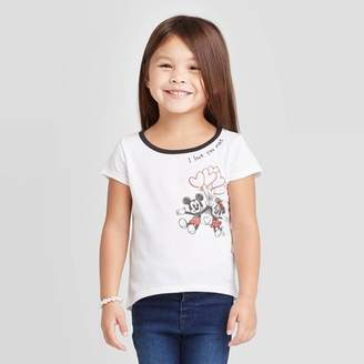 Mickey Mouse & Friends Toddler Girls' Disney Mickey Mouse & Friends Minnie T-Shirt - White