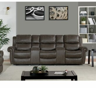 Canora Grey 3 Seat Rolled Arm Wall Hugger Recliner Sofa Canora Grey