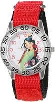 Disney Mulan Kids' W002981 Mulan Analog Display Analog Quartz Red Watch