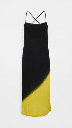 Ninety Percent Dip Dye Cross Back Slip Dress