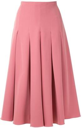 Olympiah Salci pleated midi skirt