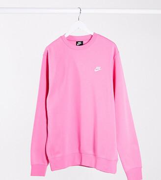 Nike Tall Club crew neck sweat in hot pink