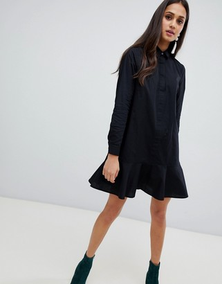 Asos Design DESIGN Peplum Mini Shirt Dress