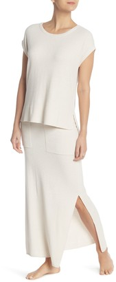 Barefoot Dreams Patch Pocket Vent Maxi Skirt