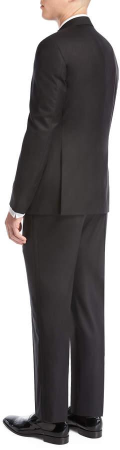 Giorgio Armani Satin Peak-Lapel Two-Piece Tuxedo Suit