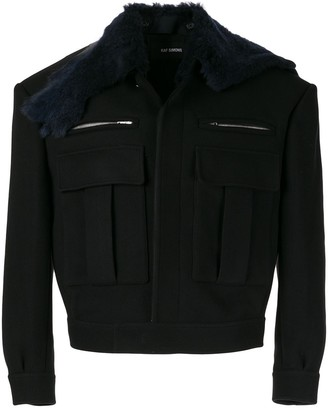 Raf Simons Faux Fur Collar Jacket