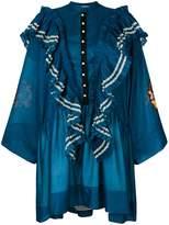 Philosophy di Lorenzo Serafini oversized ruffle trim dress