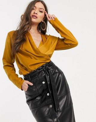 Y.A.S drape front blouse