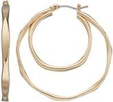 Dana Buchman Wavy Double Hoop Earrings