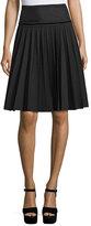 Marc Jacobs Pleated A-Line Skirt, Black